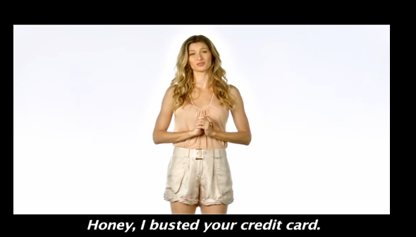 Gisele annonce qu'elle a vidé le compte en banque de son chéri pour Hope Lingerie