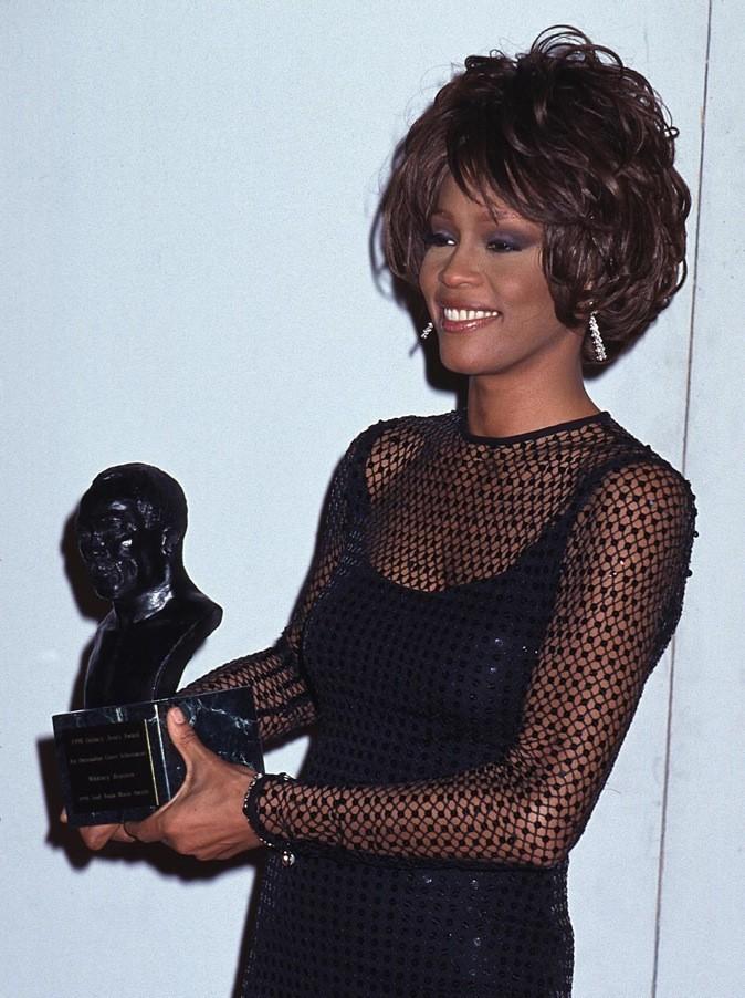 Février 1998 : Whitney Houston aux Soul Train Awards à New York