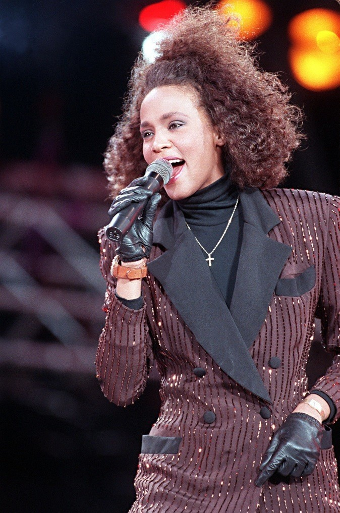 Juin 1988 : Whitney Houston en concert au Wembley Stadium de Londres