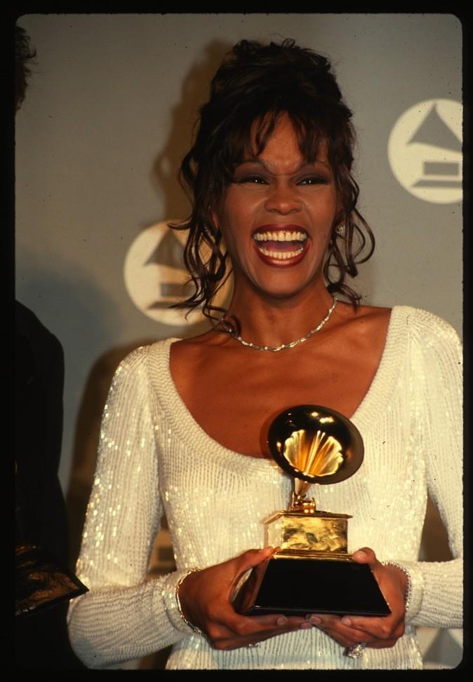 Mars 1994 : Whitney Houston aux Grammy Awards à New York