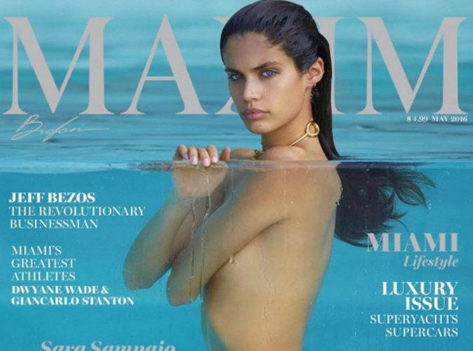 Sara Sampaio : naïade sexy et totalement nue en couverture du magazine Maxim