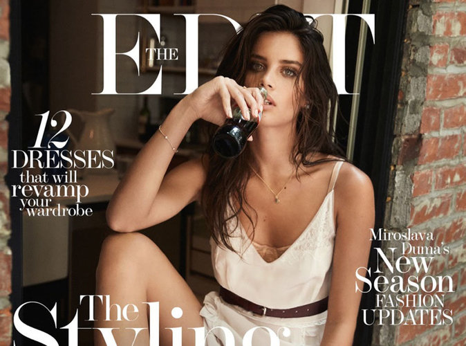 Sara Sampaio : sauvage et bohème en couverture de The Edit