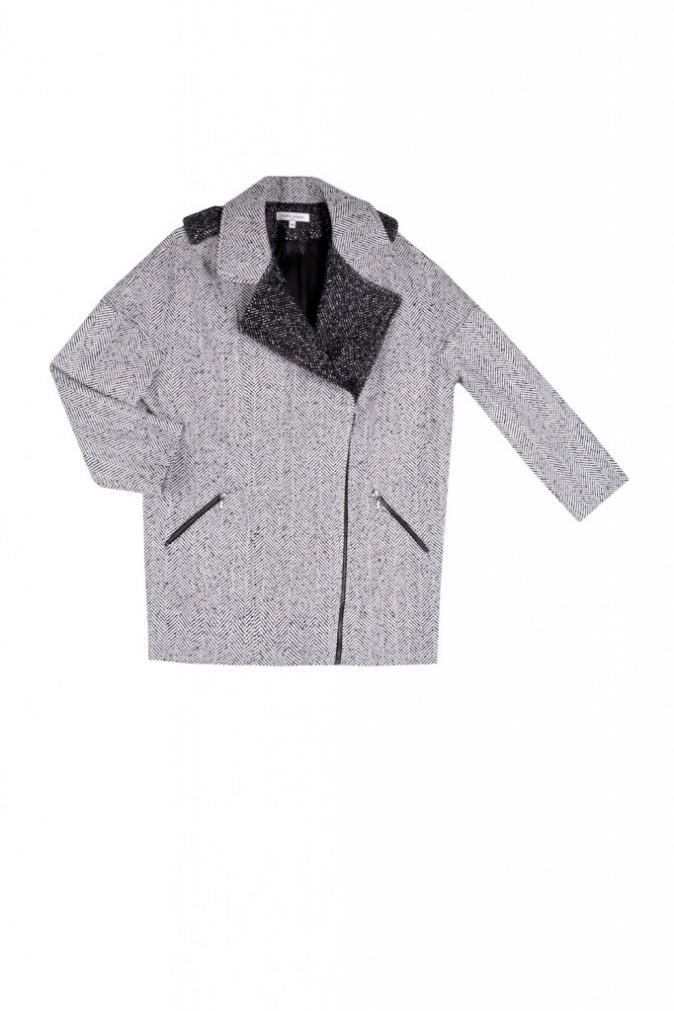 Manteau gris ALbert, façon tweed, La Petite Française 245€