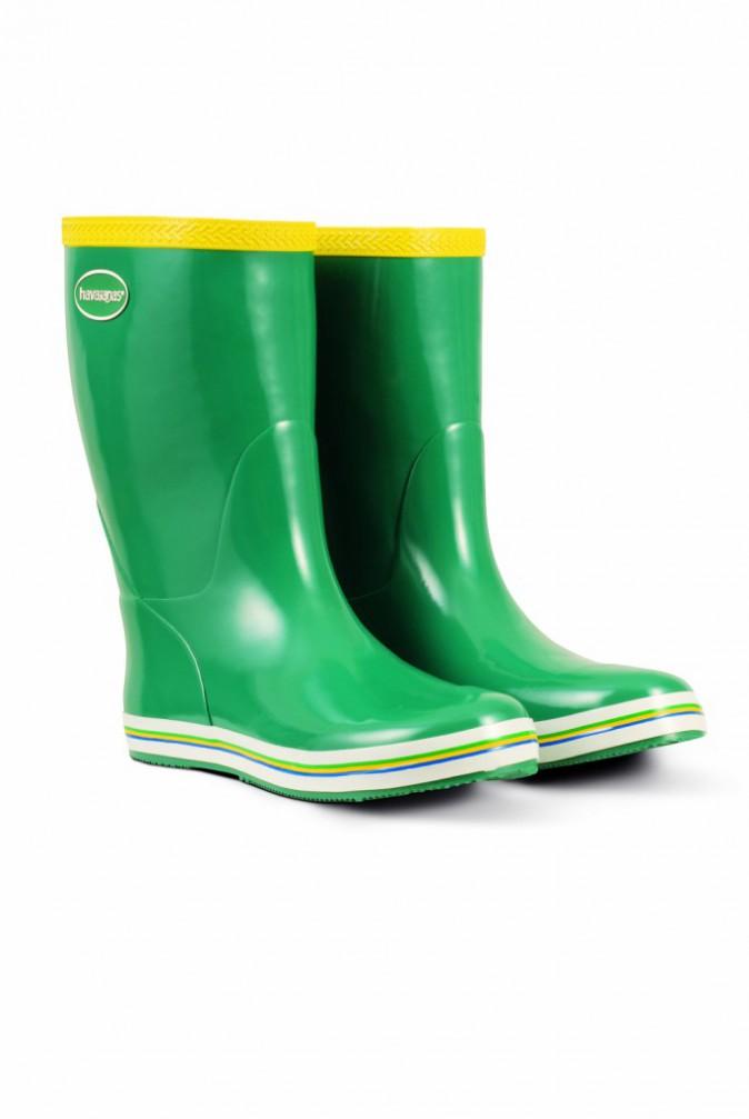 Bottes Aqua Rain, Forest Green, Havaianas 55€
