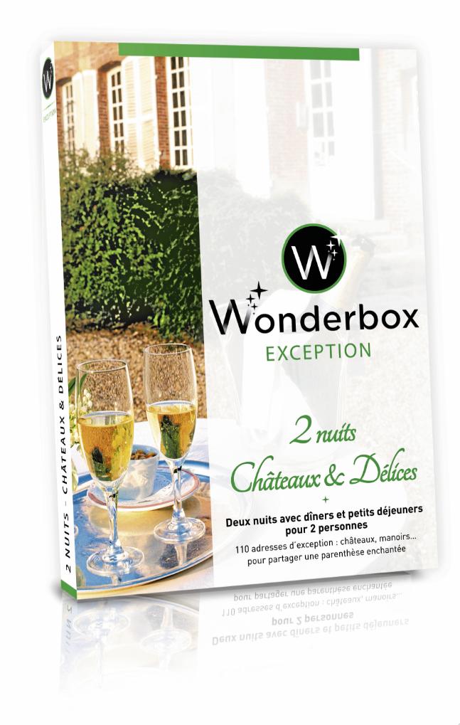 Coffres cadeau, 2 nuits, Châteaux et Délices, Wonderbox 299,90€