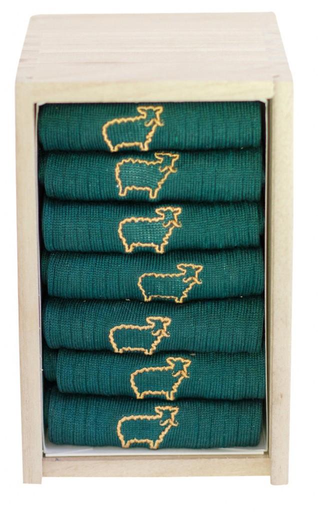 Semainier, 7 paires de chaussettes en fil d'Ecosse, M. Moustache 65€