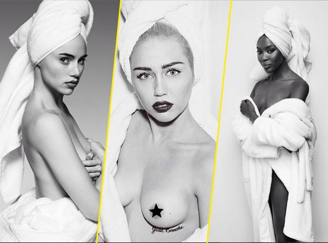 Suki Waterhouse, Miley Cyrus, Naomi Campbell... elles posent nues pour Mario Testino !