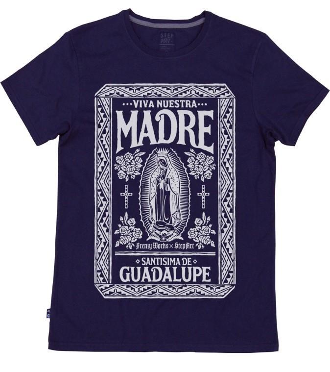 T-shirt en coton Madre Bleu, design par Frenzy Works. StepArt. 35 €