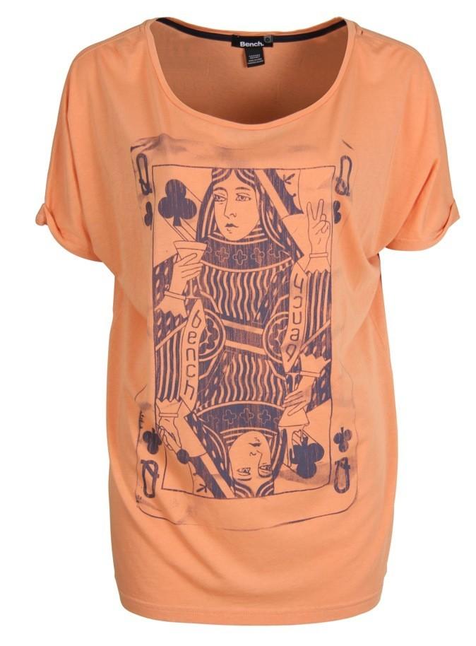 T-shirt long imprimé carte Reine de Trèfles, Bench. 30 €