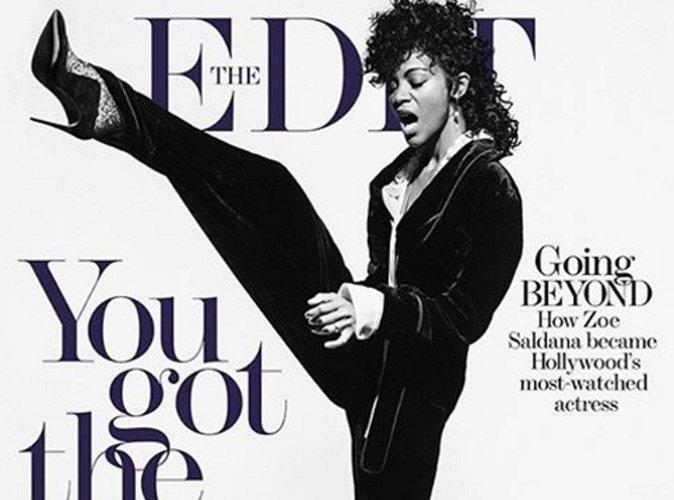Zoe Saldana : elle rend hommage à Prince en couverture de The Edit