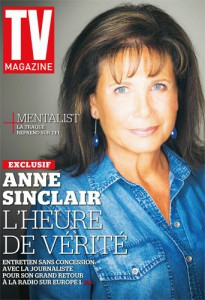 Anne Sinclair couverture TV Mag
