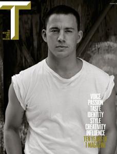 Channing Tatum en Une de T Magazine
