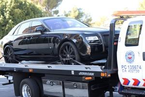 Kim kardashian panne voiture