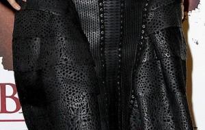 Robe en cuir d'Elsa Zylberstein