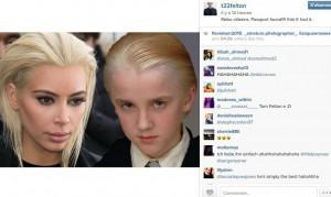 Tom Felton blague Kim Kardashian