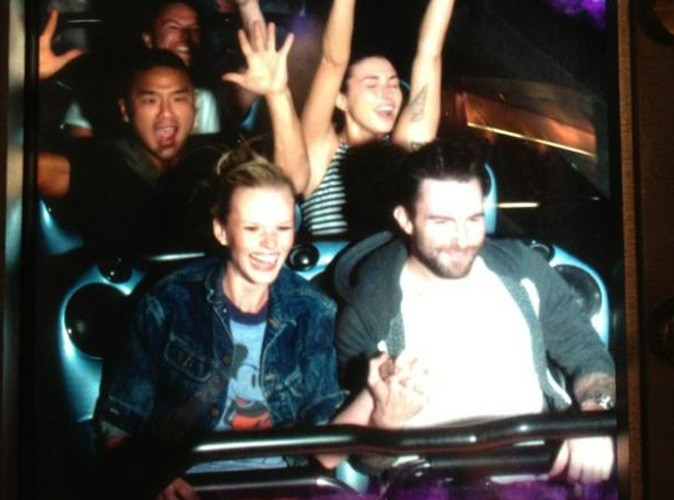 Adam Levine et Anne V : escapade féérique dans le monde merveilleux de Disney !