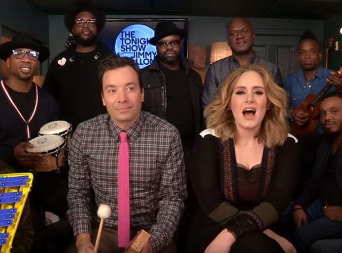 Adele retombe en enfance chez Jimmy Fallon !