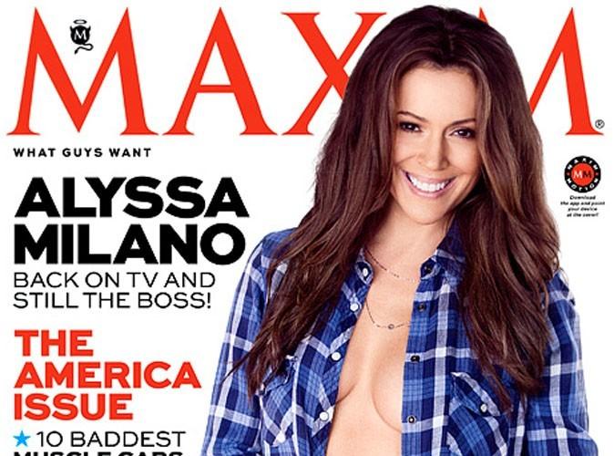 Alyssa Milano : elle assure en covergirl topless du haut de ses 40 ans !