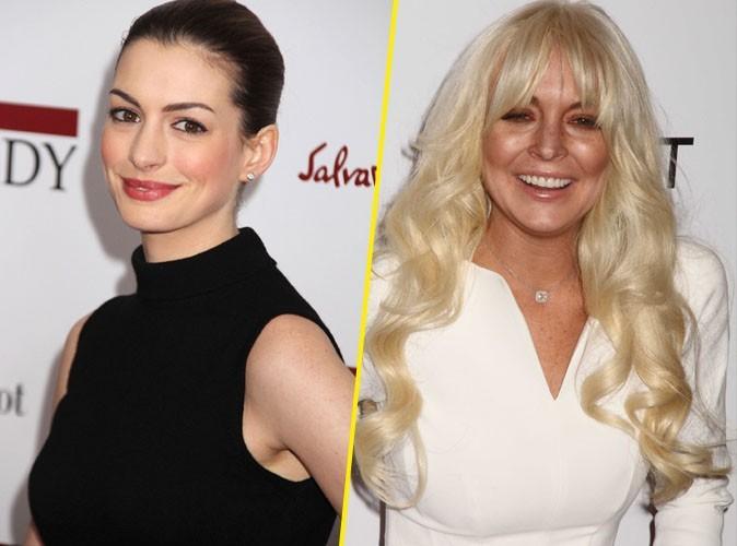 Anne Hathaway : elle se prend pour une bad girl et se compare à Lindsay Lohan !