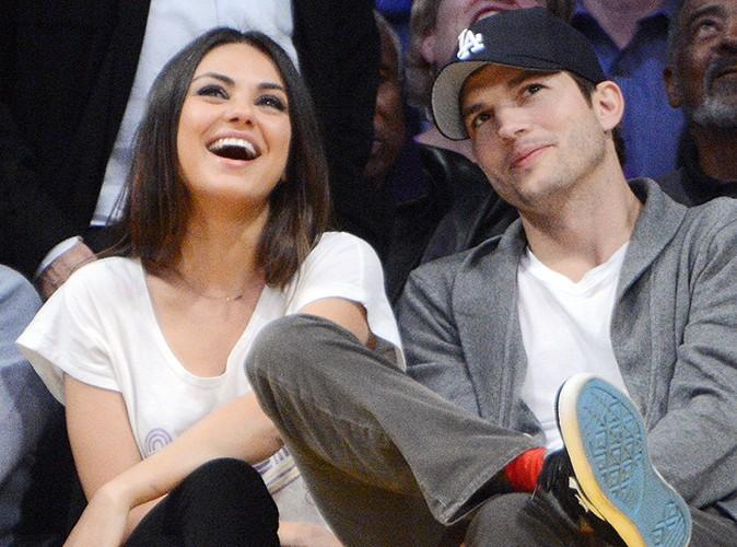Ashton Kutcher et Mila Kunis : ils s'embrassent joyeusement pour la Kiss Cam !