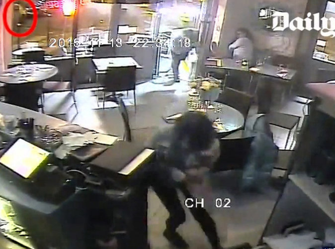 Attentats de Paris : les images de l'attaque du restaurant la Casa Nostra