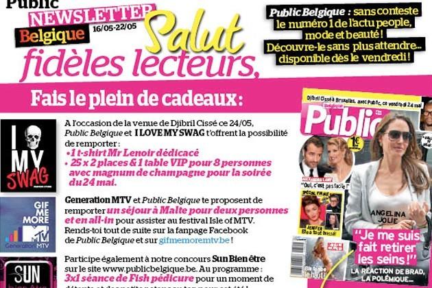 Angelina Jolie en couverture de ton nouveau numéro Public Belgique !