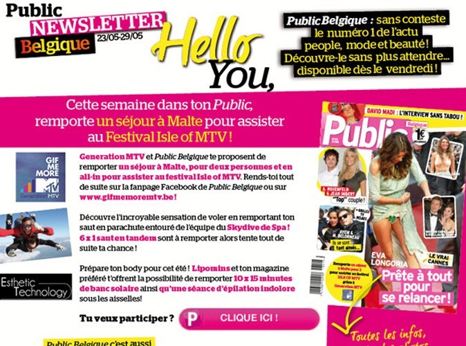 Découvre vite le programme de cette semaine dans ton nouveau numéro Public Belgique !