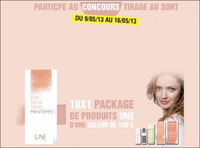 Participez au concours UNE Beauty pour tenter de gagner des coffrets-cadeaux !