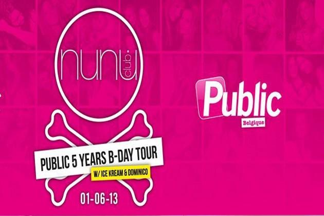 Public Belgique 5 Years B-Day Tour : rendez-vous ce samedi au NUNU Club !