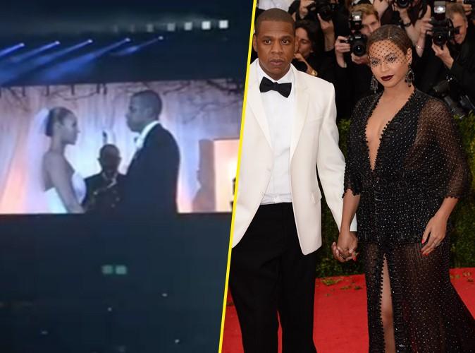 Beyoncé et Jay-Z : dans la tourmente, le couple dévoile sur scène des clichés de son mariage… six ans après !