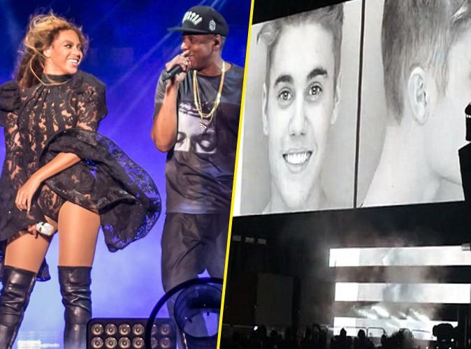 """Beyoncé et Jay-Z : ils se payent la tête de Justin Bieber dans leur """"On The Run Tour"""" !"""