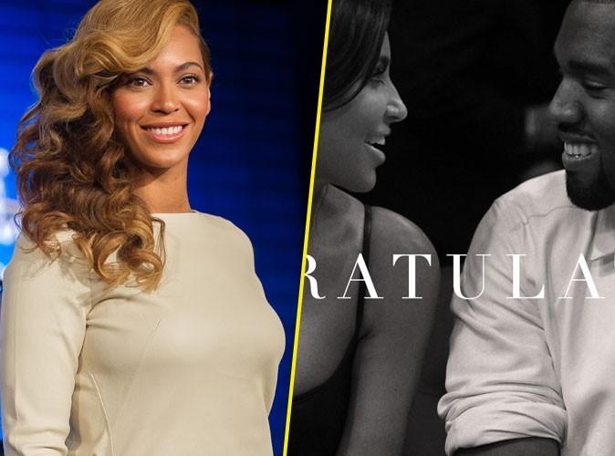 """Beyoncé : """"Félicitations à Kim et Kanye !"""""""