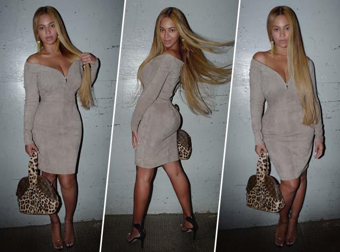 Beyoncé : féline et sexy en robe Jean-Claude Jitrois
