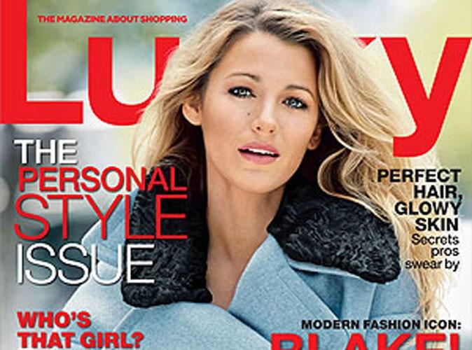 Blake Lively : smart et joliment cosy en une de Lucky Magazine !