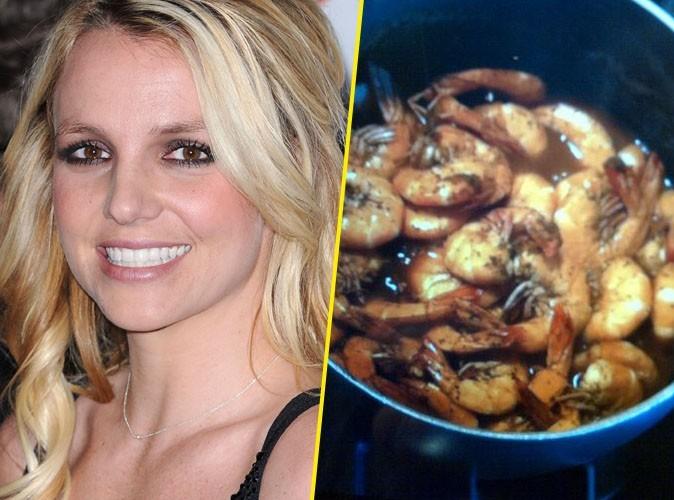 Britney Spears : aux anges parce que son homme lui prépare des crevettes !