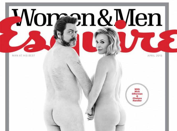 Chelsea Handler et Nick Offerman posent nus pour l'égalité des sexes !