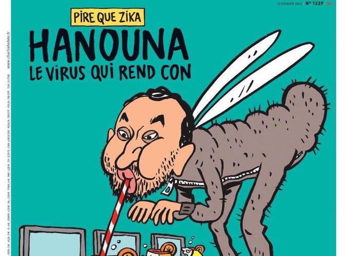 """Cyril Hanouna : Charlie Hebdo se paye la tête de l'animateur """"qui rend con"""" !"""