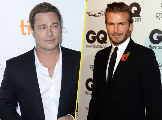"""David Beckham : """"Brad Pitt est le meilleur pour m'incarner dans un film"""" !"""