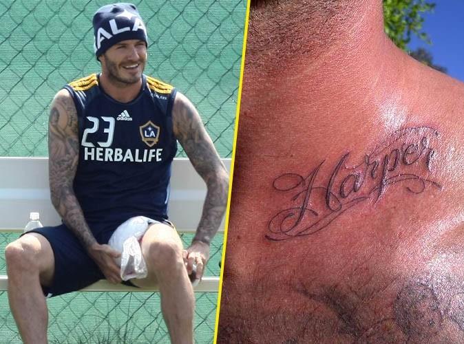 David Beckham présente son nouveau tatouage !