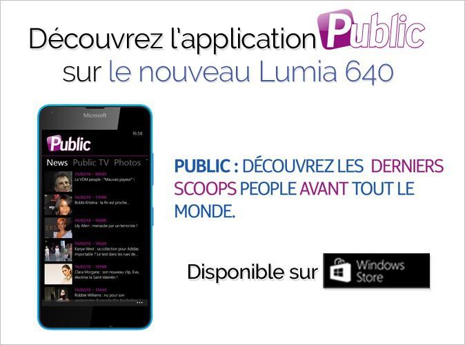 Découvrez l'application Public sur le Nokia Lumia 640 !