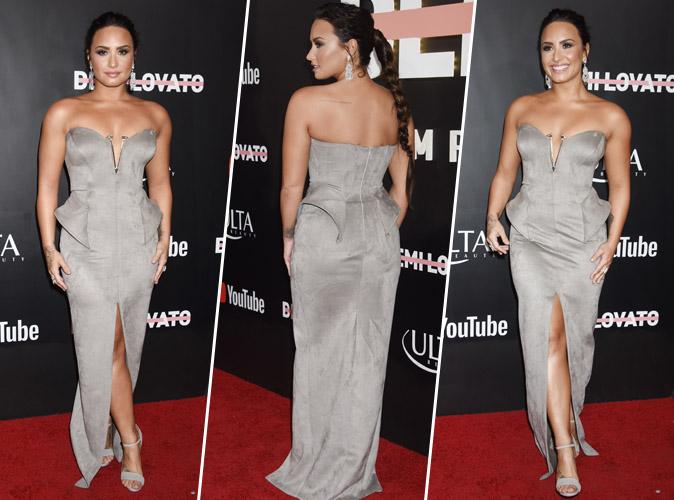 Demi Lovato : Encore une robe bustier parfaite pour ses formes !