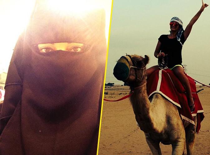 Emilie Nef Naf : en niqab ou à dos de chameau, elle nous fait partager ses vacances à Dubaï !