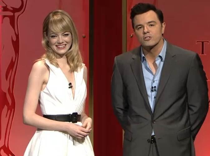 Emma Stone : rayonnante pour dévoiler la liste des nommés des Oscars 2013... Pas d'Intouchables ou de Marion Cotillard en lice !