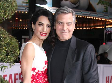 George et Amal Clooney organisent un cocktail dinatoire pour Hillary Clinton !