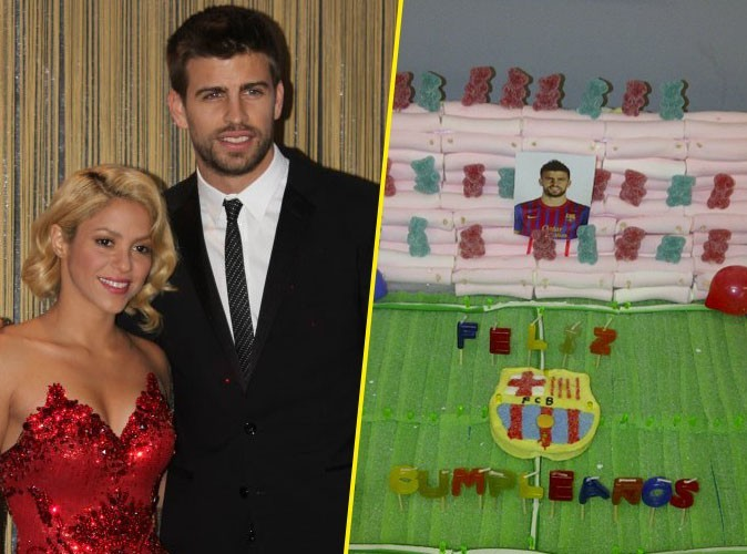 Gérard Piqué : né le même jour que Shakira, il a eu le droit à un beau gâteau d'anniversaire !