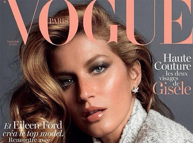 Gisele Bündchen : le top le mieux payé au monde s'offre la couverture de Vogue Paris !