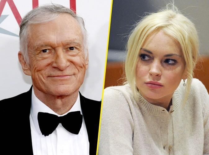 Hugh Hefner : ce qu'il pense des photos de Lindsay Lohan dans Playboy !