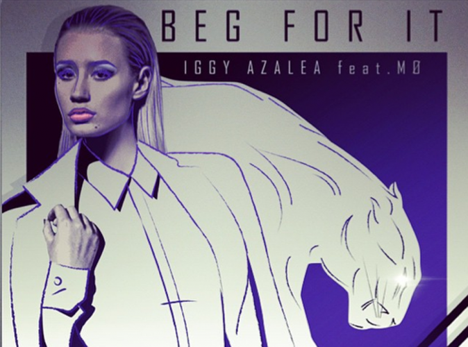Iggy Azalea : f�line sur la pochette de son single Beg for it !