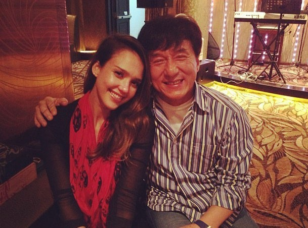 Jessica Alba : sa rencontre avec Jackie Chan !