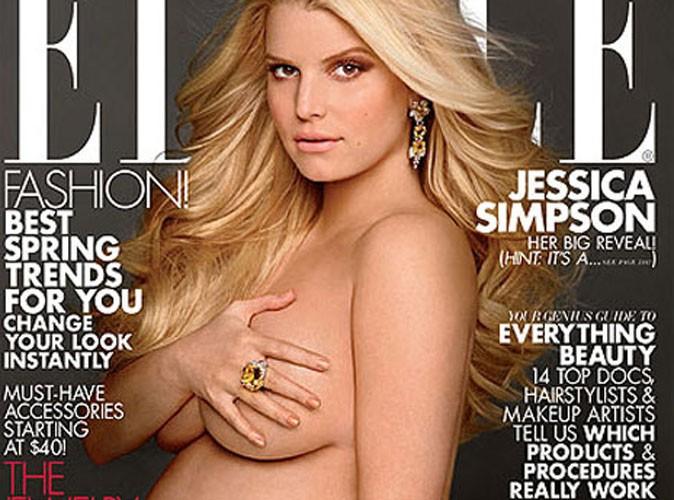 Jessica Simpson : elle s'affiche nue en couverture du ELLE américain !